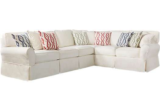 Beachside II Natural 2 Pc Sectional - Casual, Cotton