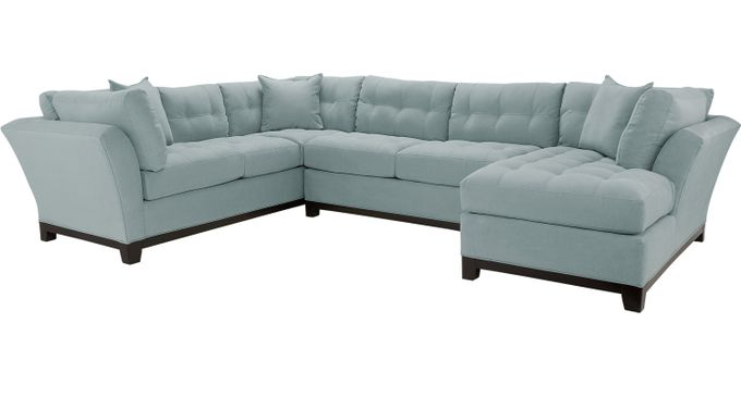 Cindy Crawford Metropolis Hydra 3Pc Sectional (Right)