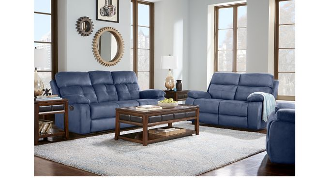 Awesome Corinne Blue 5 Pc Living Room Download Free Architecture Designs Scobabritishbridgeorg