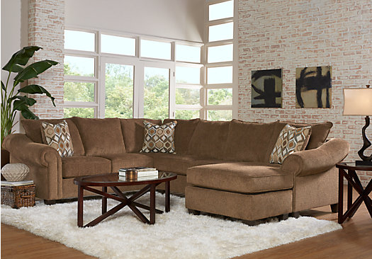 Delicieux Lago Vista Chocolate 3 Pc Sectional Living Room