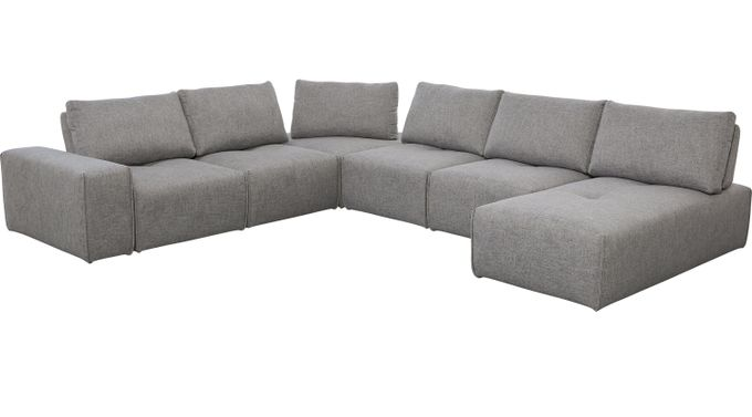 Laney Park Dark Gray 7 Pc Sectional - Contemporary, Textured