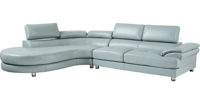 Cassinella Hydra (Sky (light blue)  blue)  2 Pc Sectional (Left Facing) - Contemporary, Synthetic
