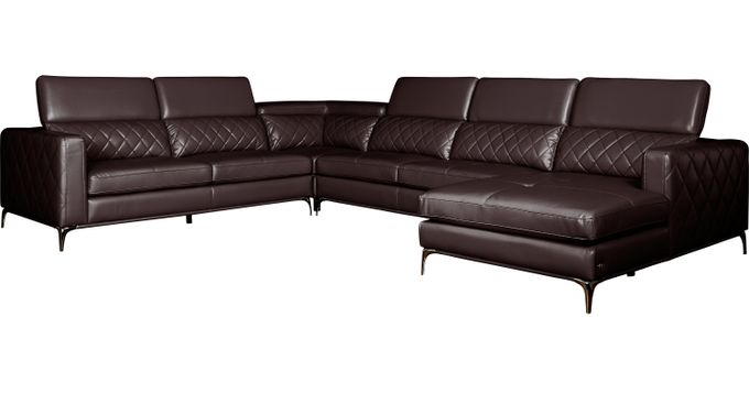 Sorrento Black Cherry 4 Pc Sectional - Contemporary, Synthetic