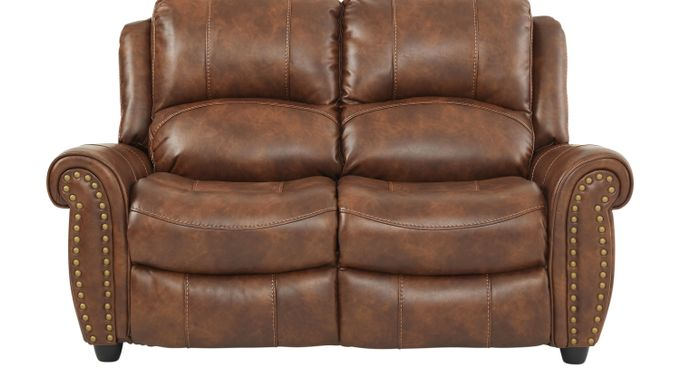 Alden Point Brown Loveseat - Classic - Traditional, Polyester