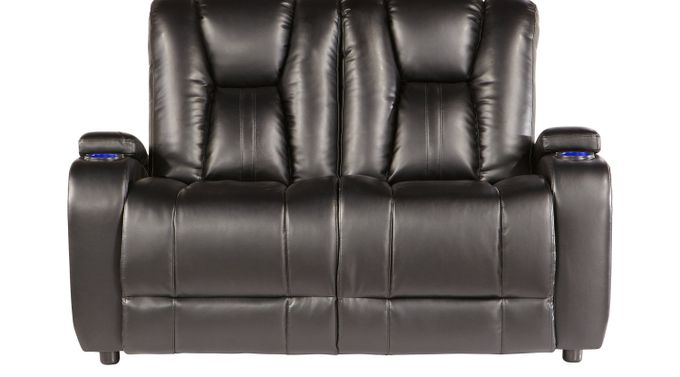 Alexander Valley Black Loveseat - Classic - Contemporary, Polyester