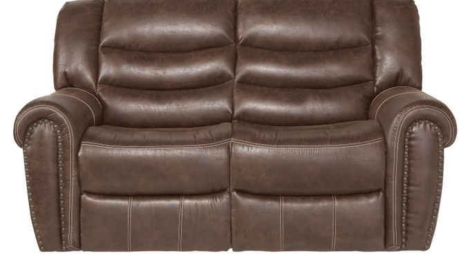 Beckley Brown Loveseat - Classic - Contemporary, Polyester