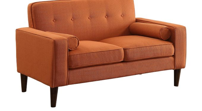 Carrolwood Orange Loveseat - Classic, Polyester