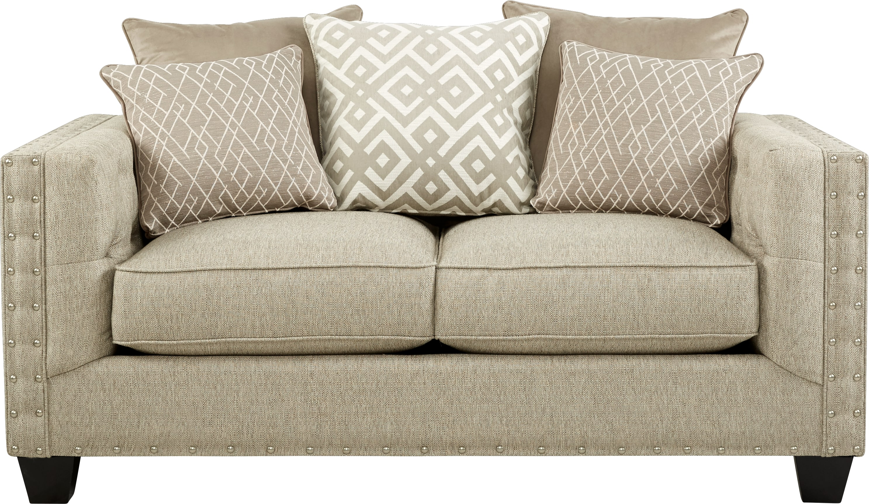 Beau Cindy Crawford Home Chelsea Hills Beige Loveseat