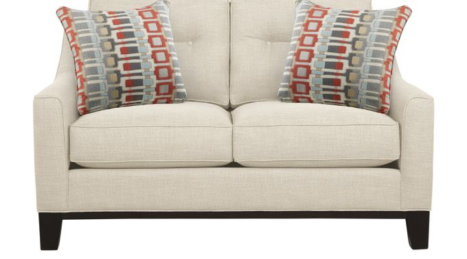 Gramercy Park Ivory (off-white)  Loveseat - Classic - Contemporary, Textured