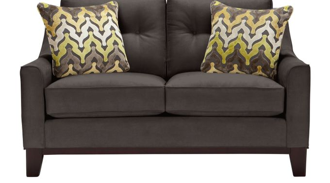 Montclair Slate (gray)  Loveseat - Classic - Contemporary, Microfiber
