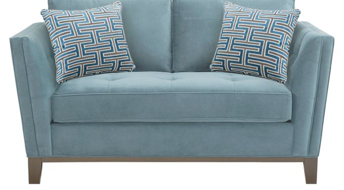 Park Boulevard Ocean (blue)  Loveseat - Classic - Contemporary, Plush