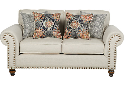 Court Street Beige Loveseat