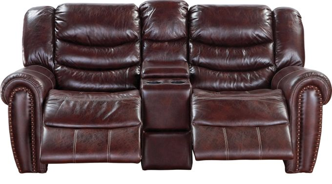 Joshua Brown Reclining Console Loveseat - Contemporary, Polyester