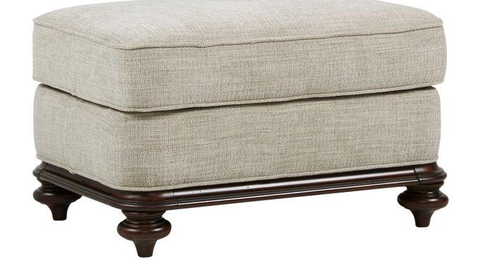 Bali Breeze Taupe (grayish brown)  Ottoman - Classic - Transitional, Textured