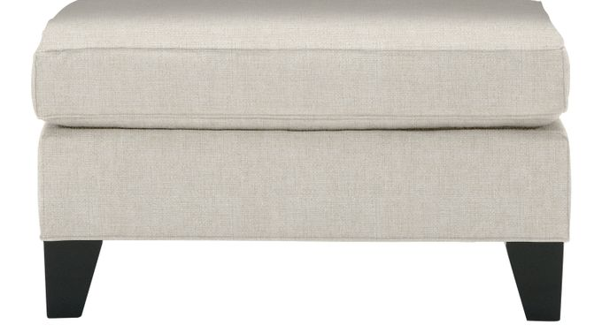 Madison Place Sand (beige)  Ottoman - Classic - Contemporary, Textured
