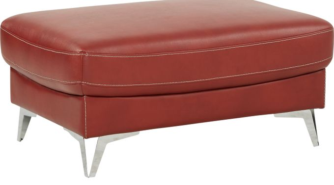 Northway Red Ottoman - Contemporary, Polyester