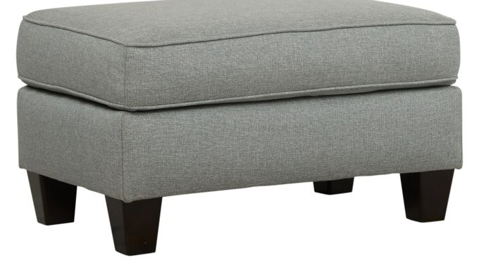 Pennington Blue Ottoman - Classic - Transitional, Fabric