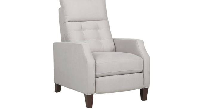 Bromfield Platinum (grayish white)  Pushback Recliner - Reclining - Contemporary, Microfiber