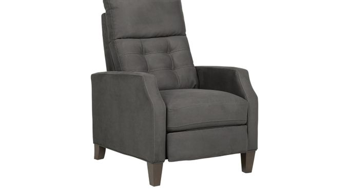 Bromfield Slate (gray)  Pushback Recliner - Reclining - Contemporary, Microfiber