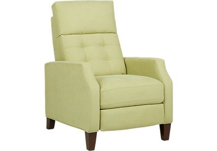 green recliner chairs lime olive leather. Black Bedroom Furniture Sets. Home Design Ideas