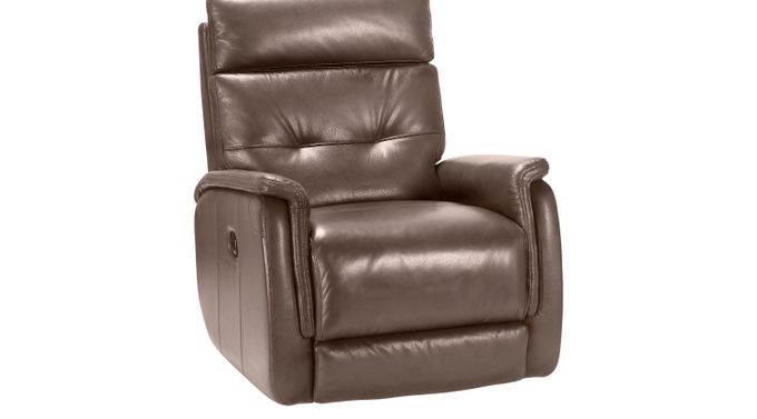 Adelino Mocha (medium brown)  Leather Recliner - Contemporary,