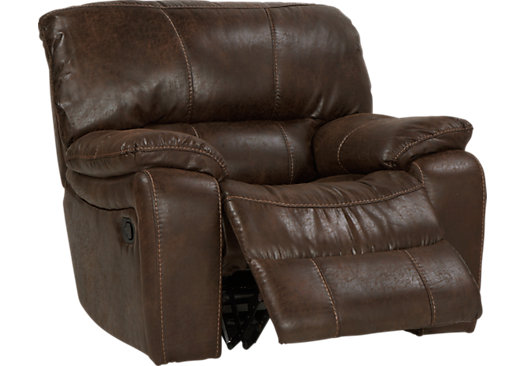 Alpen Ridge Brown Glider Recliner - Reclining - Contemporary, Microfiber