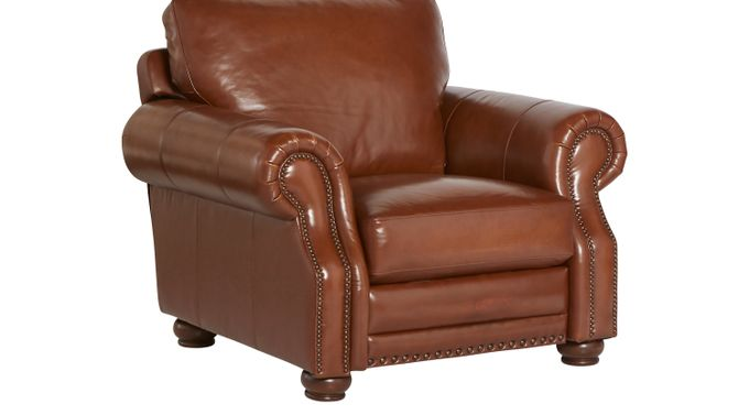 Casa Vita Camel (tan)  Leather Recliner - Reclining - Traditional,