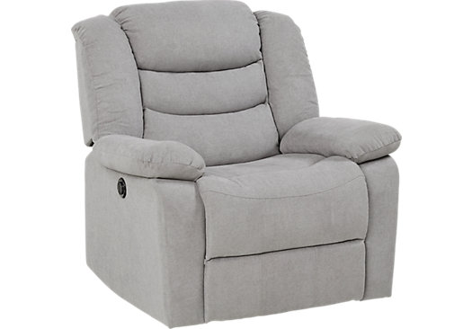 Jensen Beach Gray Power Recliner  sc 1 st  Furniture.com : recliners under 300 - islam-shia.org