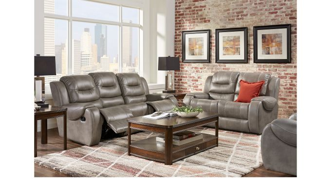 Baycliffe Smoke 5 Pc Living Room - Classic - Contemporary, Polyester