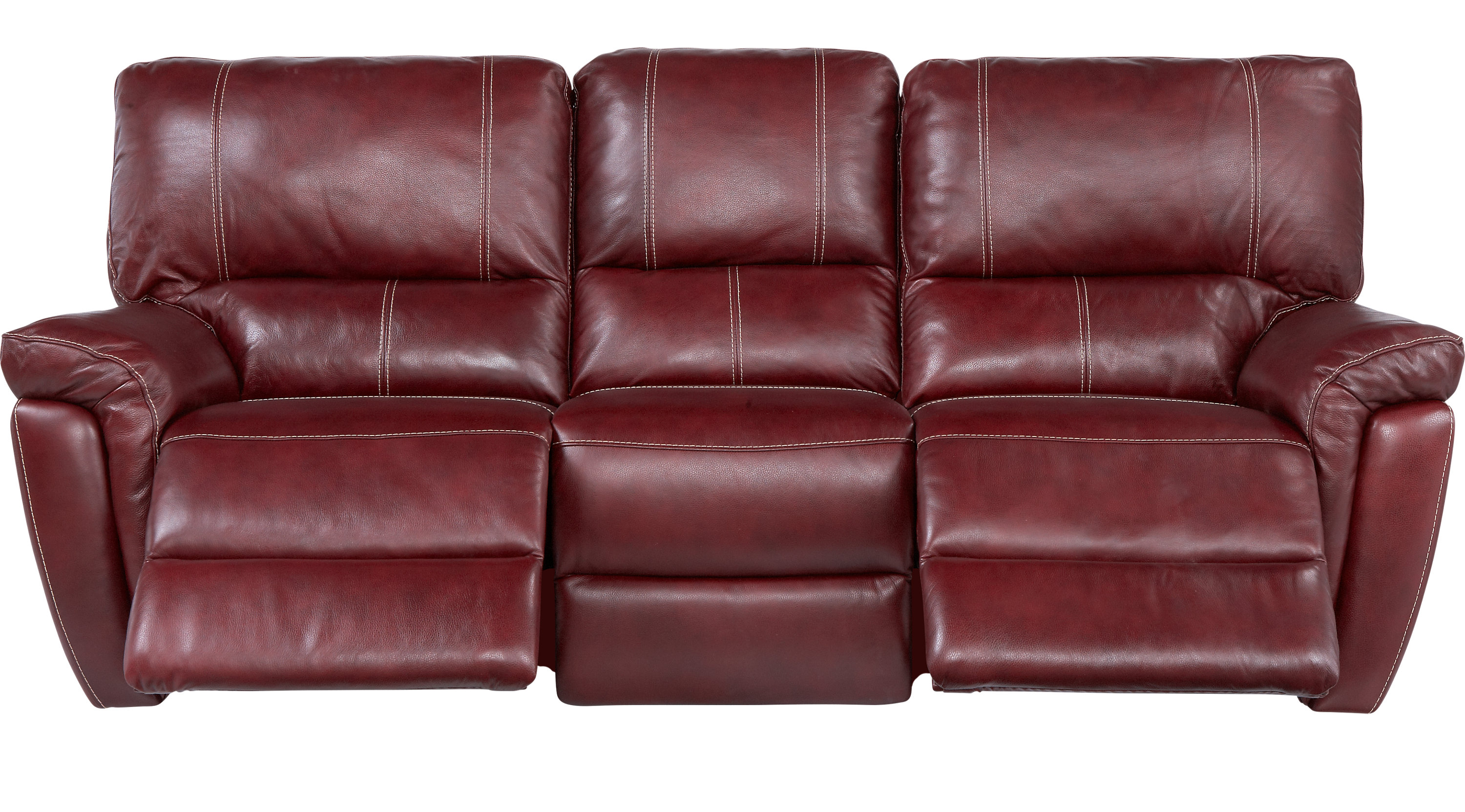 Browning Bluff Red Leather Reclining Sofa Contemporary