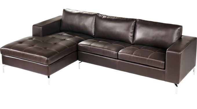 Brandon Heights Brown 2 Pc Sectional - Contemporary, Synthetic