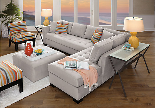 products couch pc sets living microfiber sectional gray springs barton cindy home crawford rooms room