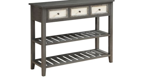 american furniture console table with camden wicker baskets storage drew tables shop