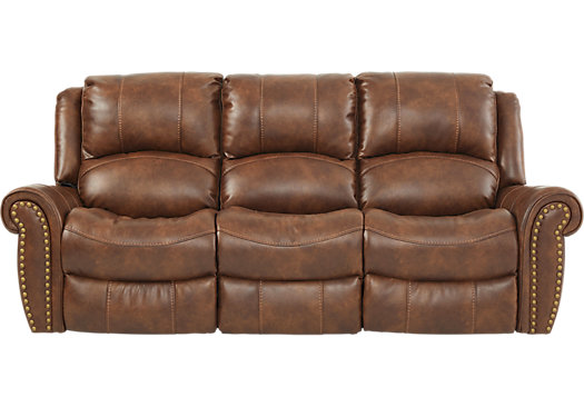 Superb Alden Point Brown Power Reclining Sofa