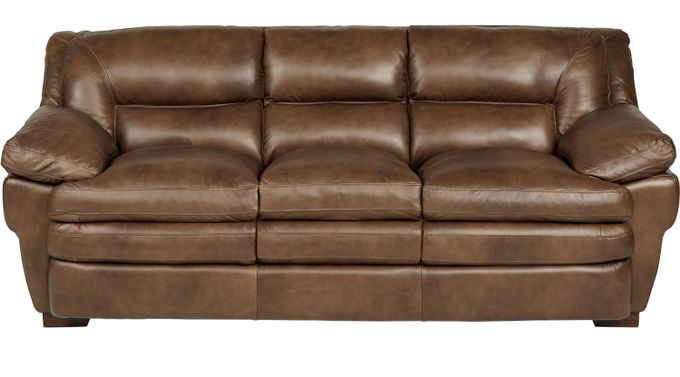 Aventino Tobacco  (tan / brown) Leather Sofa - Classic - Transitional,