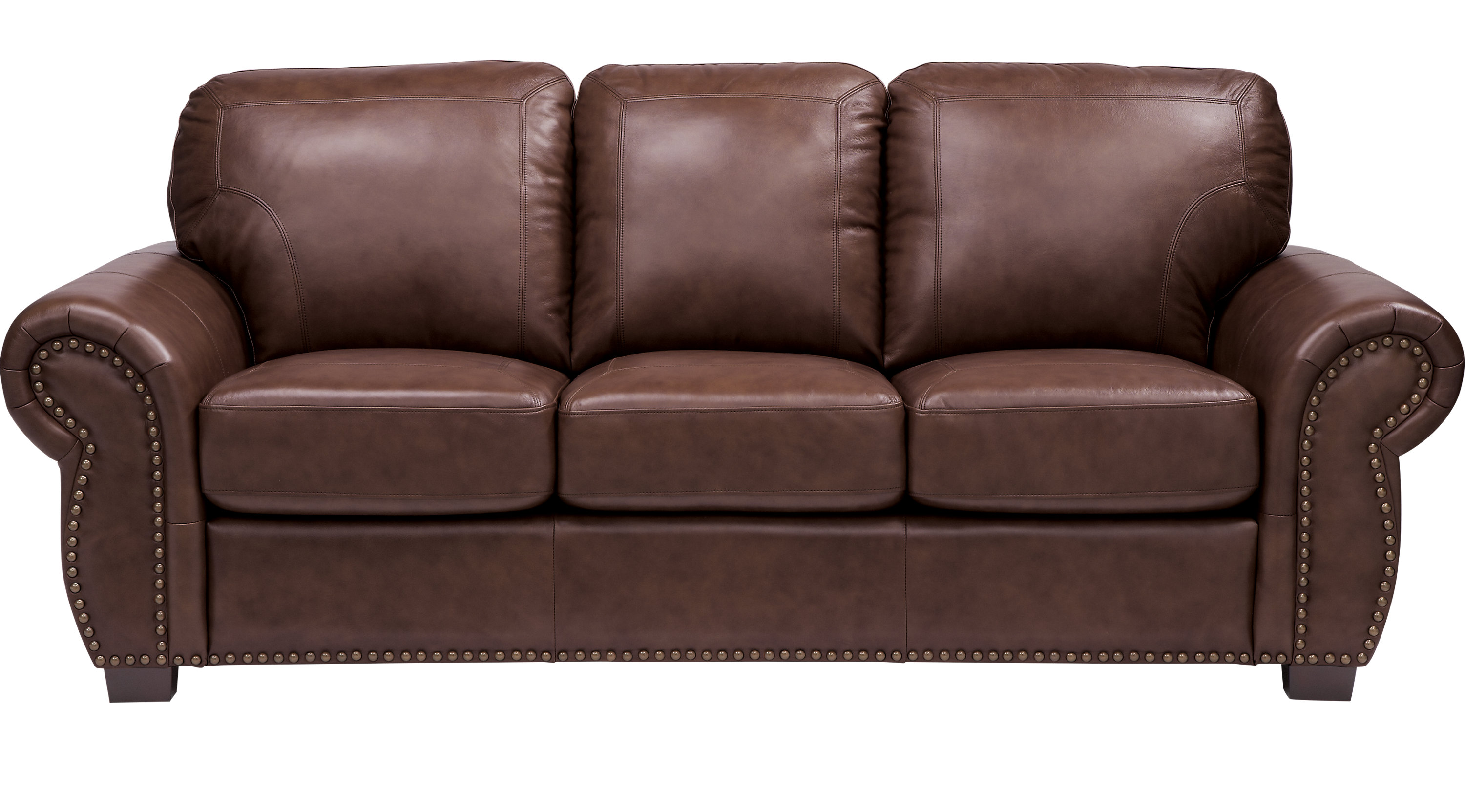 Balencia Dark Brown Leather Sofa