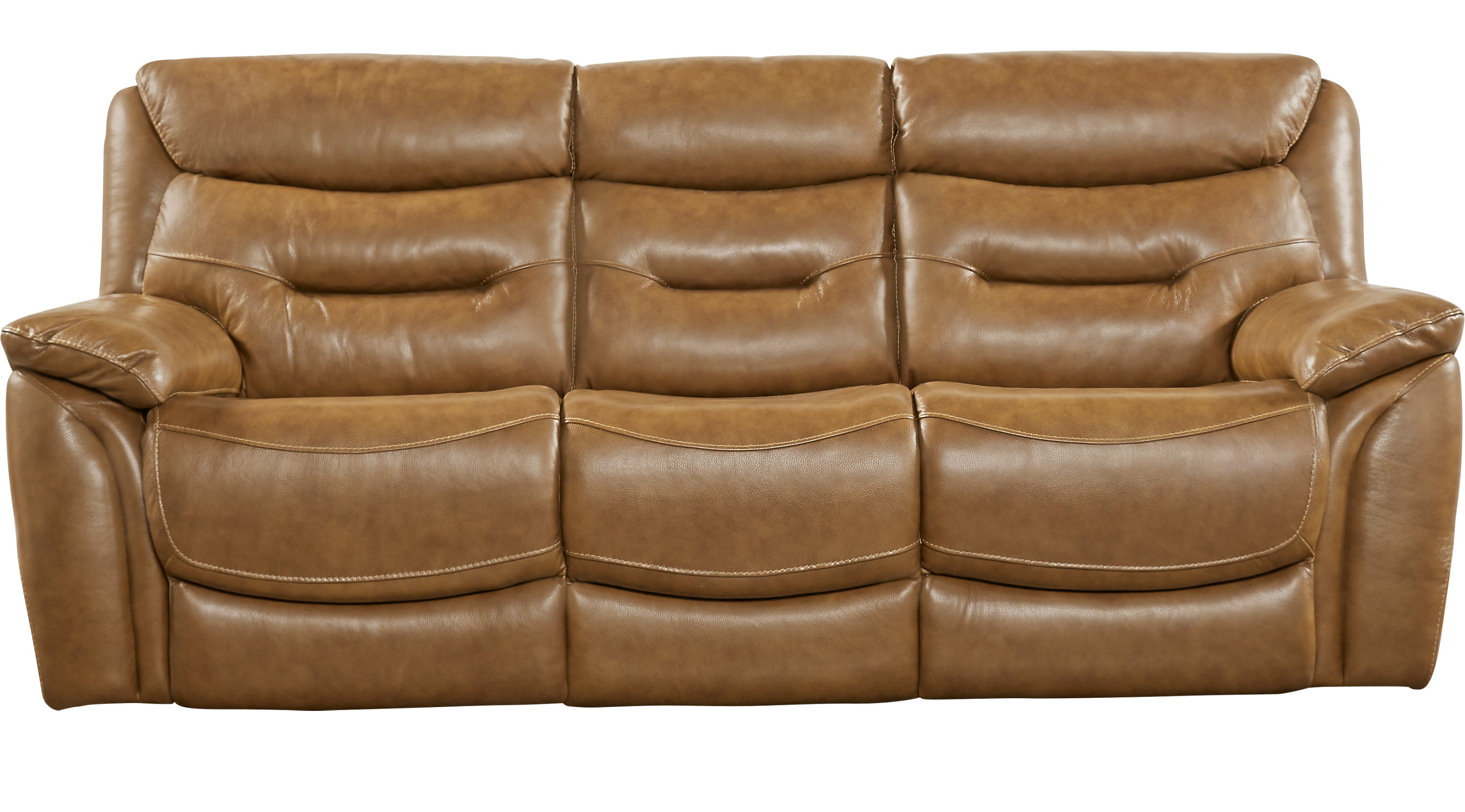 Bennato Brown Leather Power Reclining Sofa