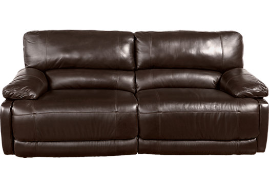 $1,299.99   Auburn Hills Brown Leather Power Reclining Sofa   Contemporary,