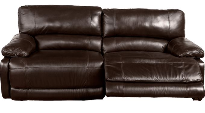 $1,099.99 - Auburn Hills Brown Leather Reclining Sofa - Contemporary,