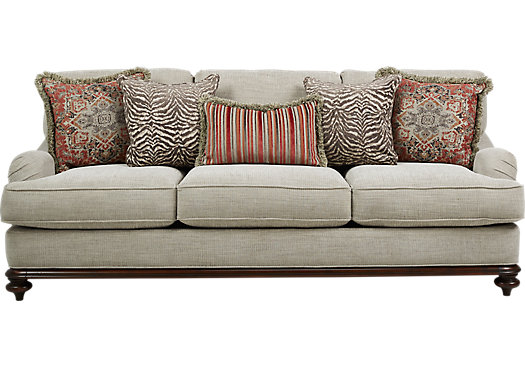 Cindy Crawford Home Bali Breeze Taupe Sofa Part 66
