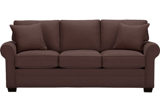 Bellingham Chocolate Sofa - Classic - Contemporary, Microfiber
