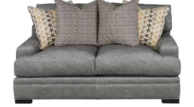 Palm Springs Gray Apartment Sofa - Classic - Contemporary, Polyester