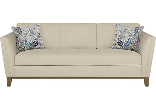 Park Boulevard Beige Sofa - Classic - Contemporary, Polyester