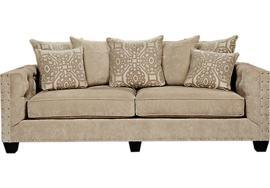 788 00 Sidney Road Taupe Grayish Brown Sofa Clic Transitional Chenille