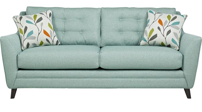 Cobble Heights Teal Sofa - Classic - Contemporary, Polyester