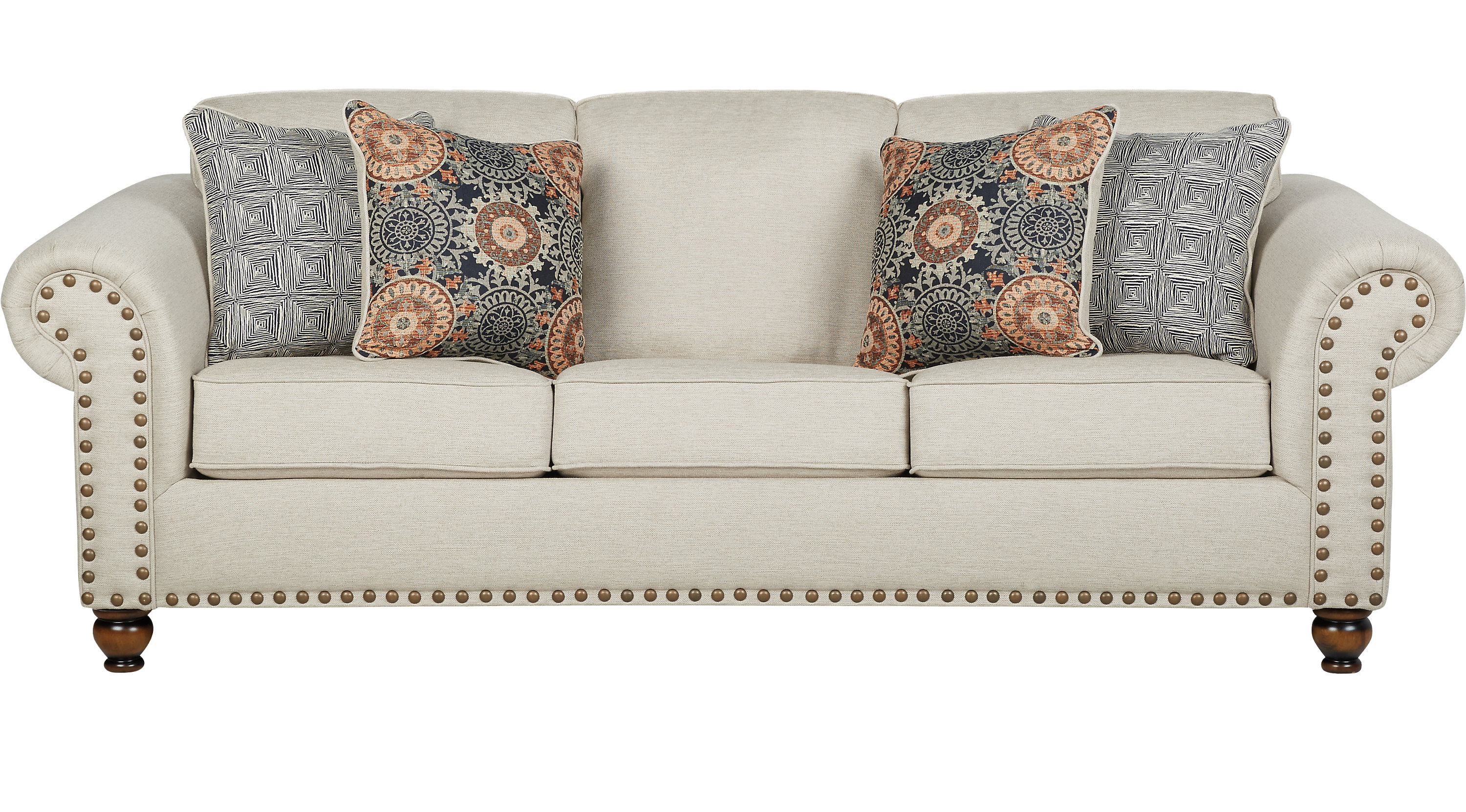 Charmant Court Street Beige Sofa