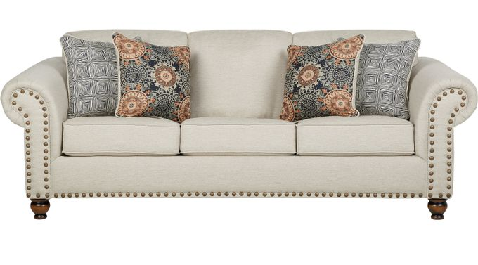 Court Street Beige Sofa - Classic - Transitional, Fabric