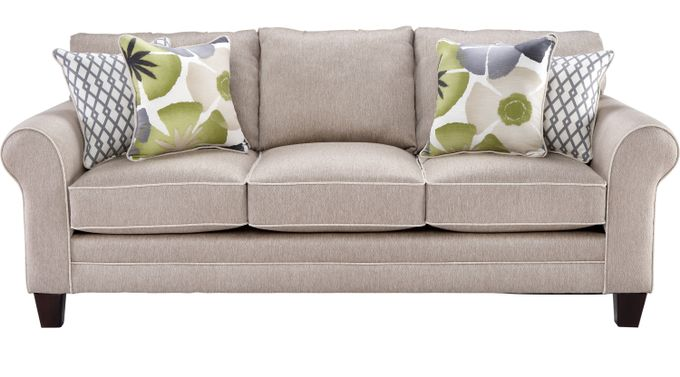 Lilith Pond Taupe (grayish brown)  Sofa - Classic - Transitional, Textured