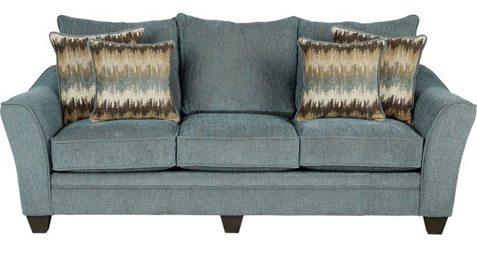 Madeley Teal Sofa - Classic - Contemporary, Textured