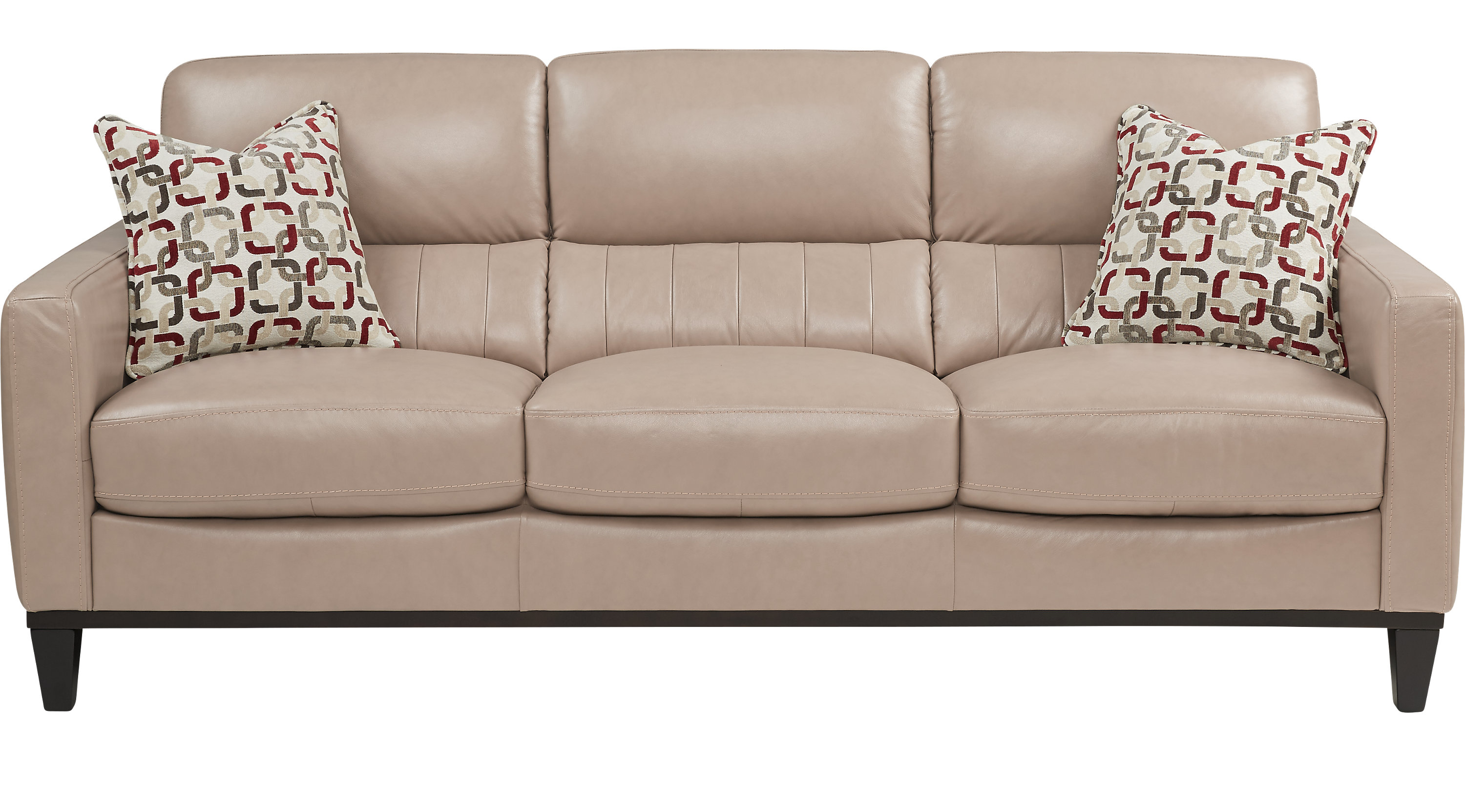 Prospect Park Sand Beige Leather Sofa